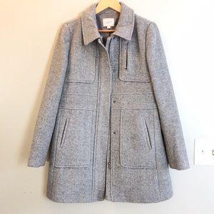 Loft Wool Blend Tailored Coat Size Medium Like New